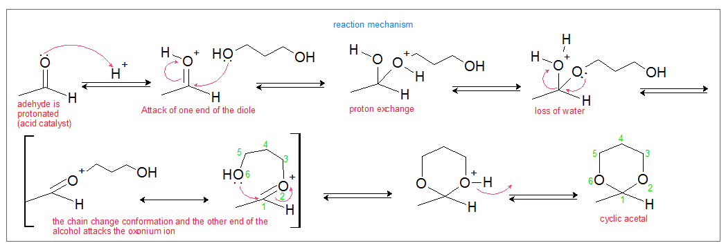 cyclic acetal reaction mechanism