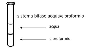 sistema bifase acqua cloroformio
