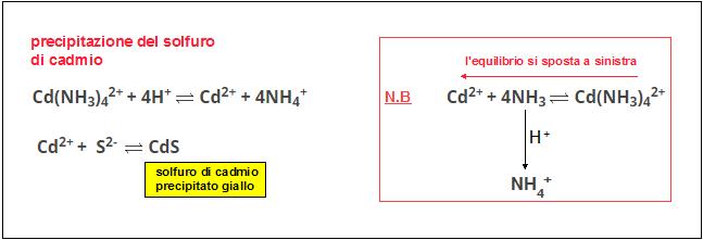precipitazione del solfuro di cadmio