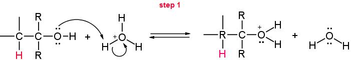 meccanismo di disidratazione parte 1