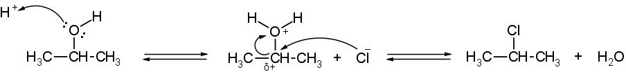sostituzione alcol cloruro
