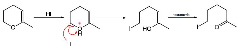 attacco dello ioduro a enol etere