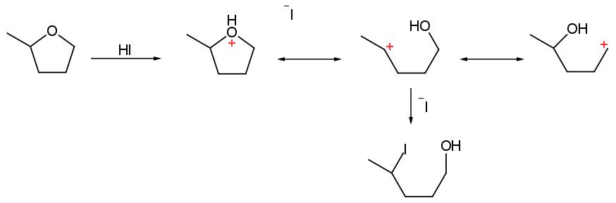etere con acido iodidrico
