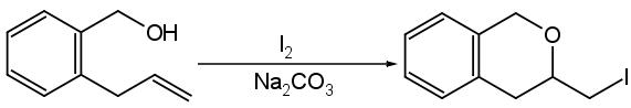iodo alcol intramolecolare