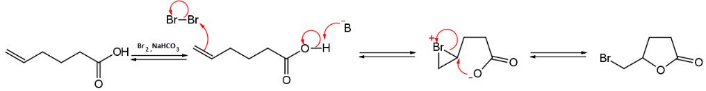 meccanismo di bromolattonizzazione