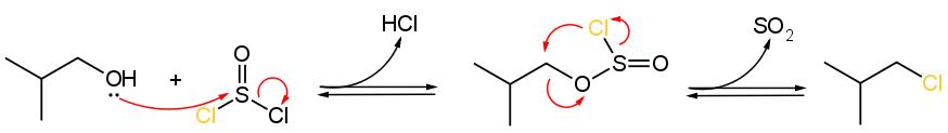 sostituzione alcoli con cloruro di tionile