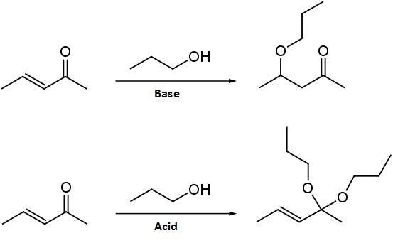 reazione di Michael nucleofili all'ossigeno