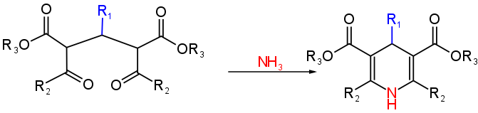 Sintesi di Hantzsch meccanismo di reazione 3