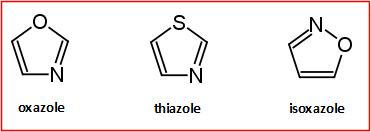 ossazolo tiazolo isossazolo