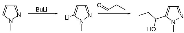 pirazolo metallazione