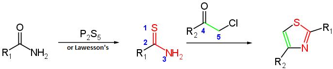 sintesi del tiazolo