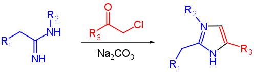 sintesi dell'imidazolo con alfa alochetoni
