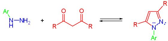 sintesi di un pirazolo sostituito